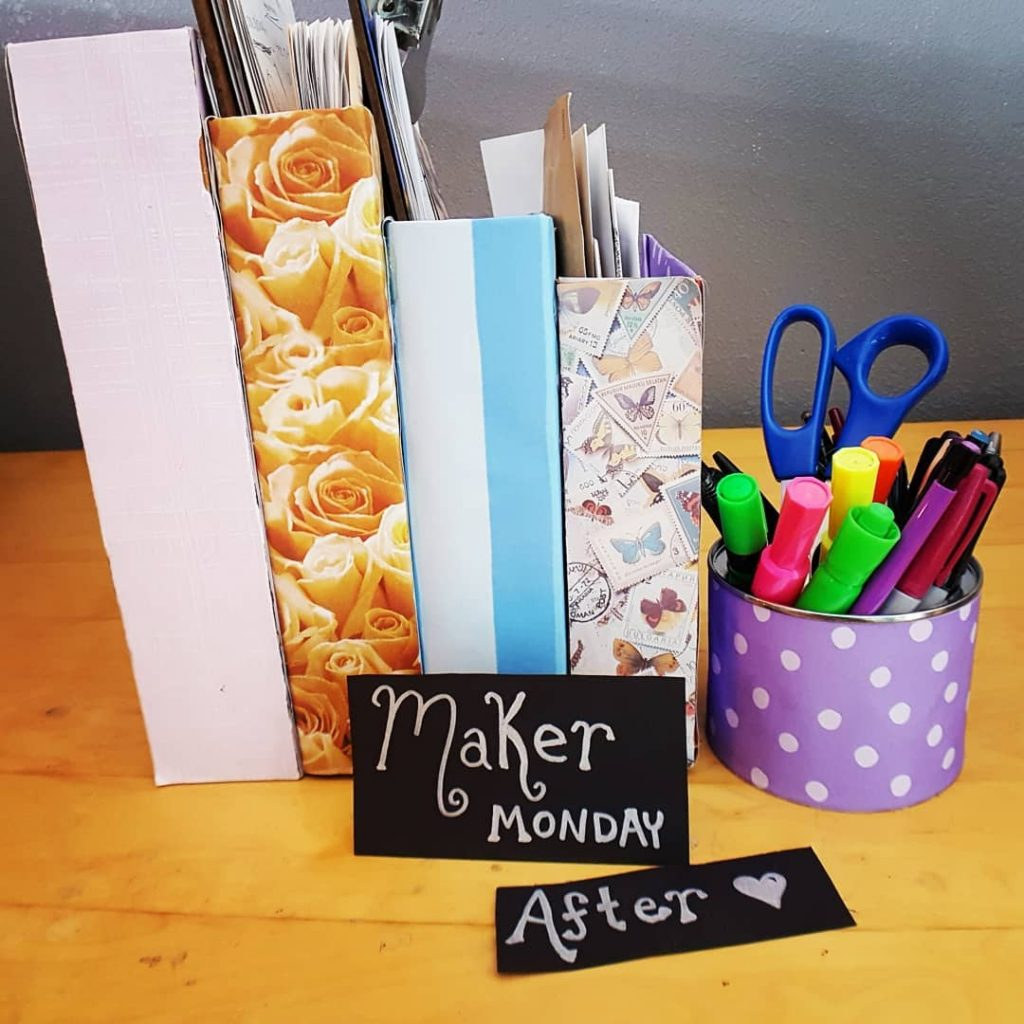 Office Organizers created during Maker Monday with SparklewithSara